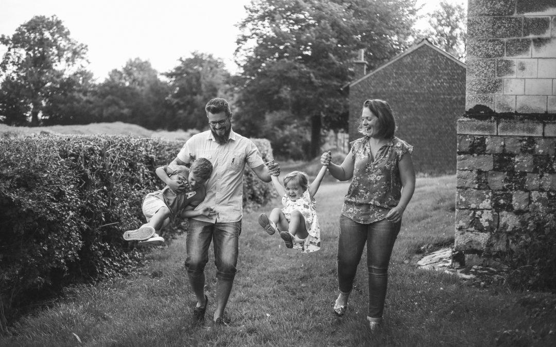 Une séance famille à la campagne