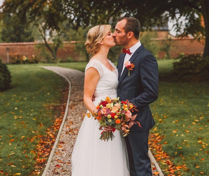 Un très joli mariage automnal au Domaine de la Traxène