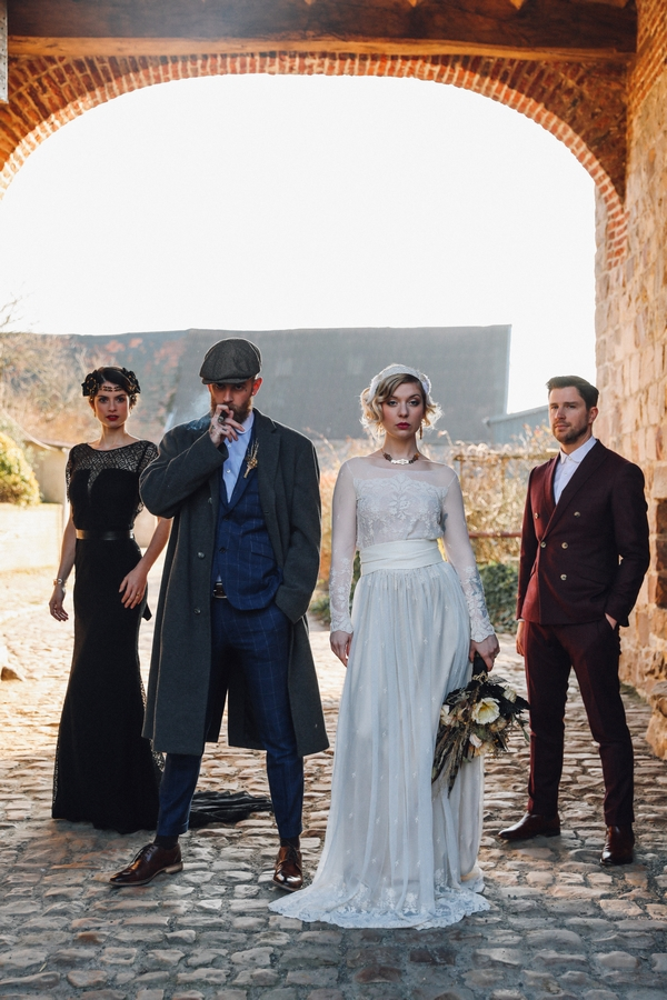 Séance Inspiration Mariage Hivernal Thème Peaky Blinders