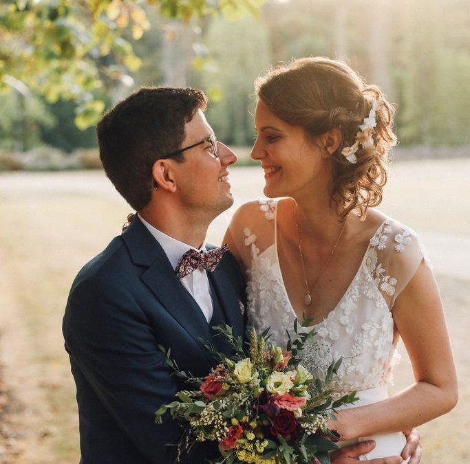 Un mariage délicat et romantique au Château de Mazières